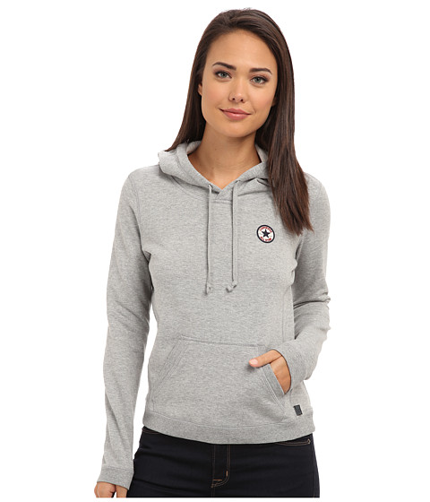 Converse - FT Pullover Hoodie (Vintage Grey Heather) Women's Sweatshirt