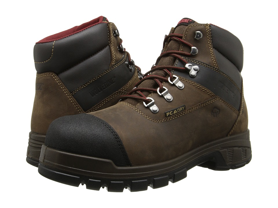 Wolverine - 6 Renton EPXtm Anti-Fatigue Insulated PC Dry Waterproof Composite-Toe Boot (Brown) Men's Work Boots
