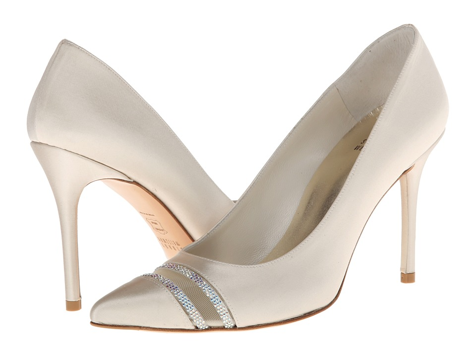 Stuart Weitzman Bridal & Evening Collection Lyrics (Ivory Satin) High Heels