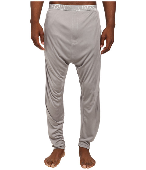Emporio Armani - Soft Interlock Loungewear Bottom (Steel Grey) Men's Pajama