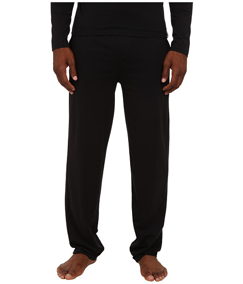 Emporio Armani - Cotton Modal Loungewear Bottom (Black) Men's Pajama