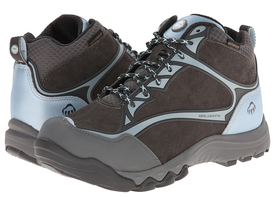 Wolverine - Fairmont Mid-Cut PC Dry Waterproof Steel-Toe Hiker (Dark Grey/Blue) Women's Work Boots