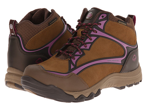 Wolverine - Fairmont Mid-Cut PC Dry Waterproof Steel-Toe Hiker (Brown/Fuchsia) Women's Work Boots