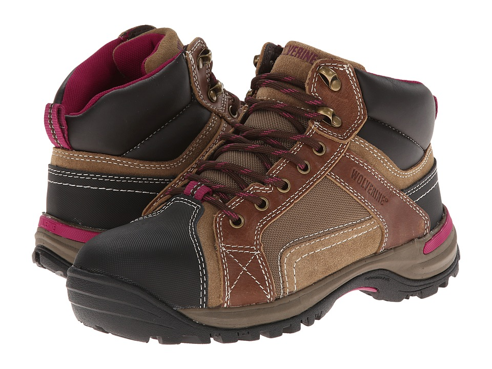 Wolverine - Chisel Mid-Cut Hiker (Dark Brown) Women's Work Boots