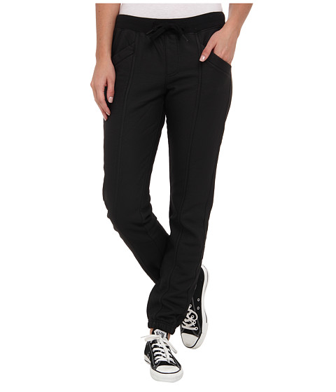 Converse - Coated Seamed Ankle Knit Pant (Black) Women's Casual Pants