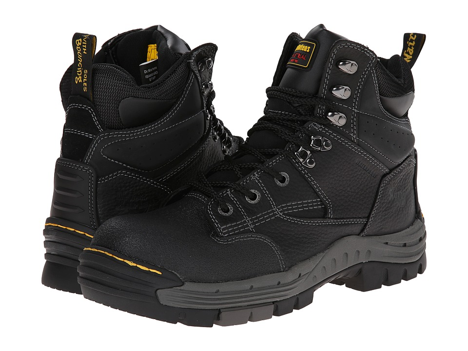 Dr. Martens Work - Isambard 8-Tie ST Waterproof Boot (Black Industrial Grizzly) Men's Work Boots