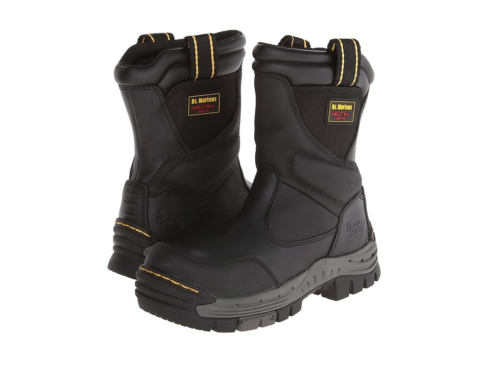 Dr. Martens - Tamar ST Waterproof Wellington Boot (Black Poro WP/Nylon) Men's Work Boots