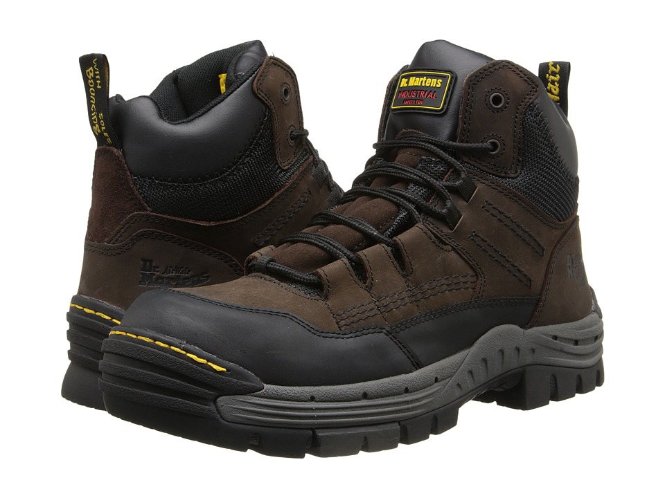 Dr. Martens - Truss 7-Tie ST Hiker (Gaucho/Dark Brown Volcano/WR Suede) Men's Work Boots
