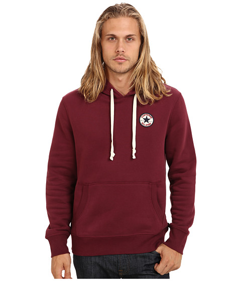 Converse - Chuck Patch Fleece Pullover Hoodie (Burgundy) Men's Sweatshirt