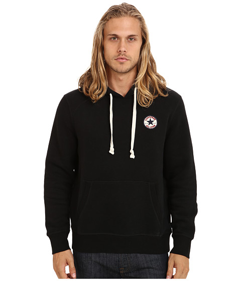 Converse - Chuck Patch Fleece Pullover Hoodie (Black) Men's Sweatshirt
