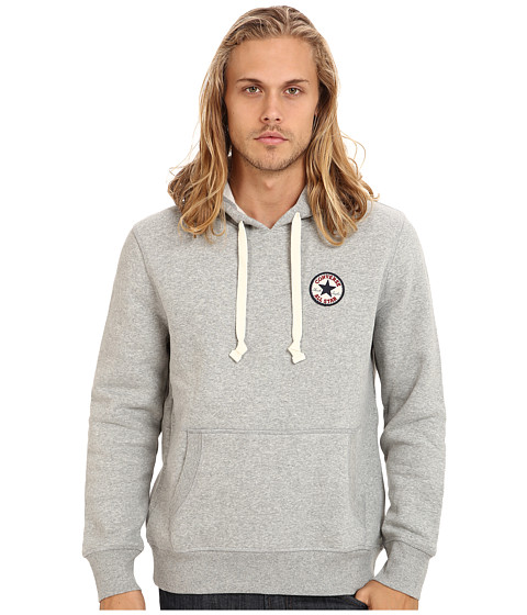 Converse - Chuck Patch Fleece Pullover Hoodie (Vintage Grey Heather) Men