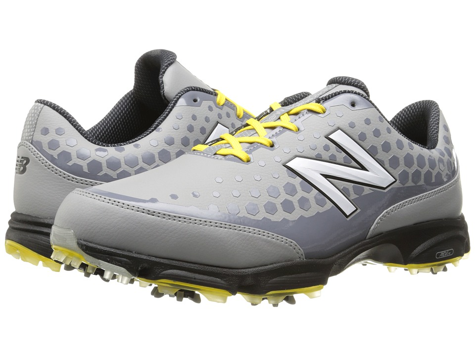 New Balance Golf - NBG2002 (Grey/Yellow) Men's Golf Shoes
