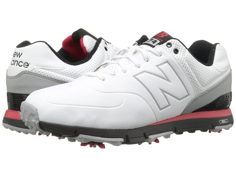 New Balance Golf - NBG574 (White/Red) Men's Golf Shoes