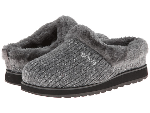 BOBS from SKECHERS - Keepsakes - Star Bright (Charcoal) Women's Slippers