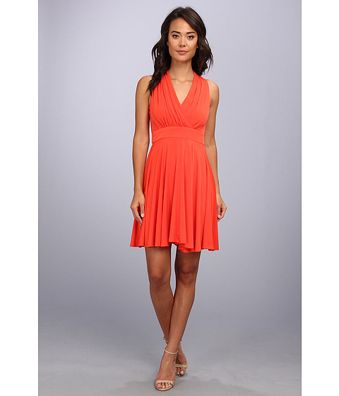Jessica Simpson - Jersey Fit Flare Dress (Tangerine) Women