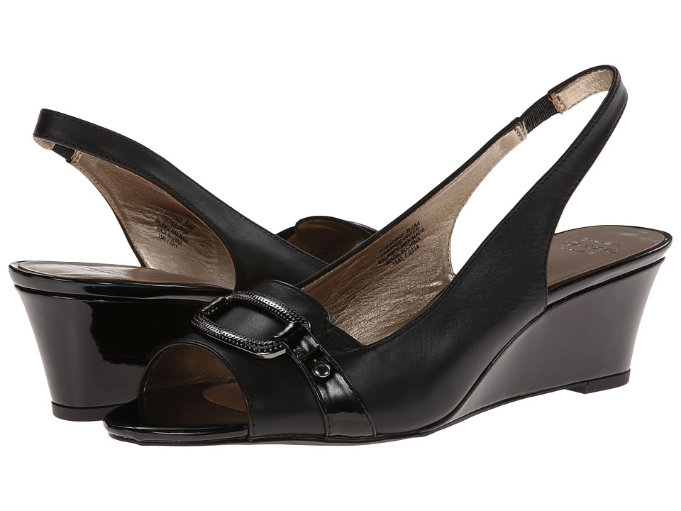 Circa Joan & David - Sydnie (Black) Women's Wedge Shoes