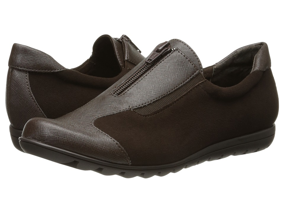 Vaneli Akila (T.Moro Ecco Suede/Dark Brown Saffiano Royal 85) Women