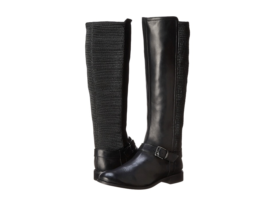 Vaneli - Granger (Black Ecco Nappa/Black Erin Stretch/Gunmetal Buckle) Women's Boots