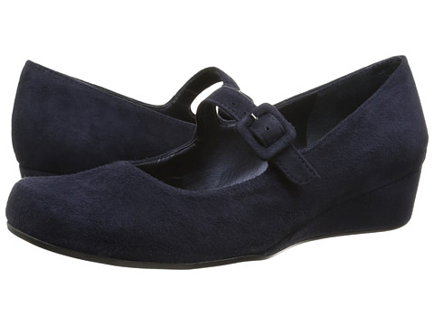 Vaneli - Monika (Navy Ecco Suede/Navy Ecco Suede Covered Buckle) Women's Maryjane Shoes