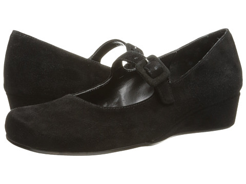 Vaneli - Monika (Black Ecco Suede/Black Ecco Suede Covered Buckle) Women's Maryjane Shoes