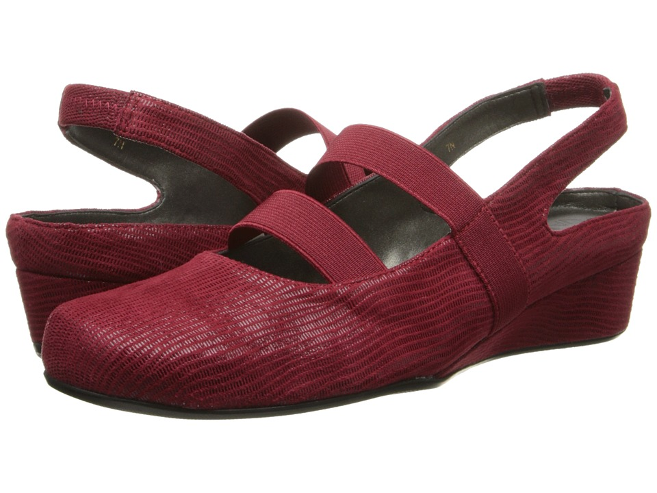 Vaneli - Molly (Red Miniliz/Mtch Elastic) Women's Wedge Shoes