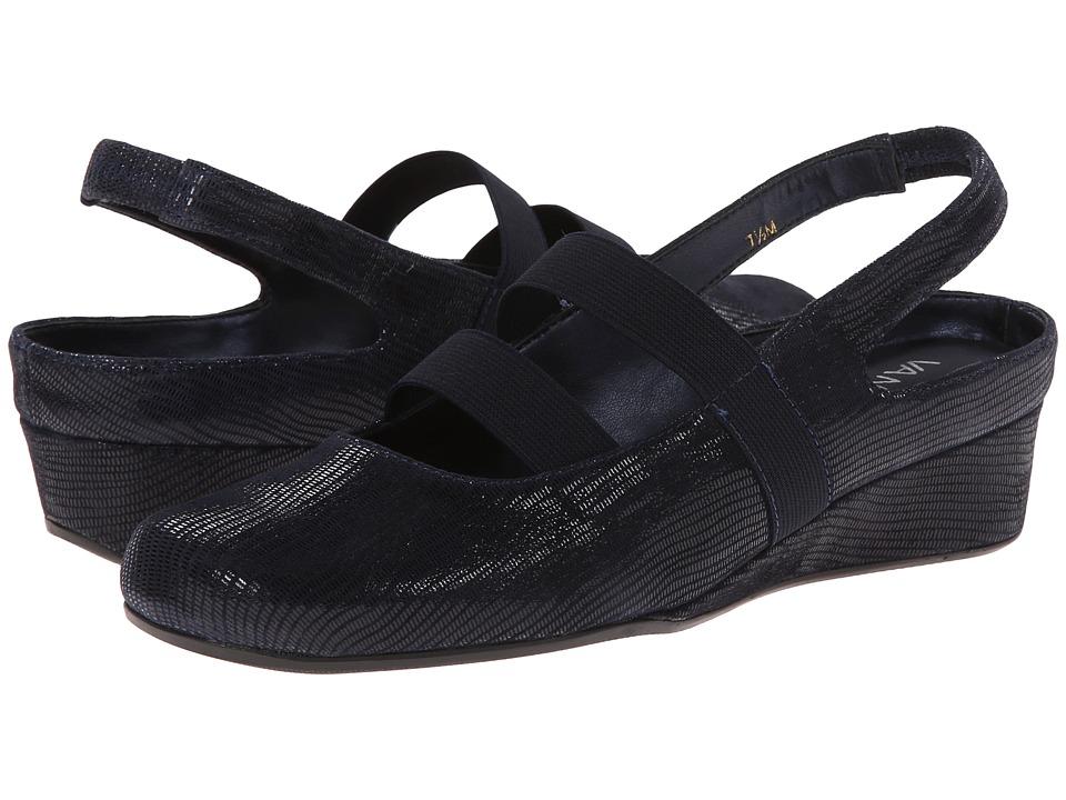 Vaneli - Molly (Navy Miniliz/Mtch Elastic) Women's Wedge Shoes