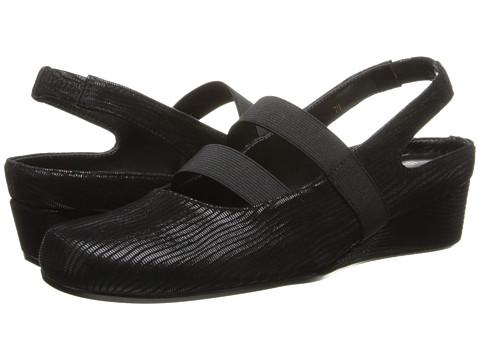 Vaneli - Molly (Black Miniliz/Mtch Elastic) Women's Wedge Shoes