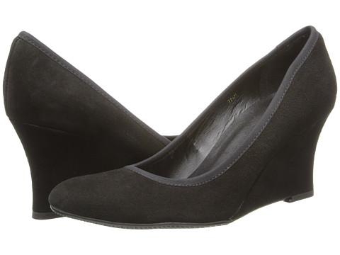 Vaneli - Udara (Black Ecco Suede/Mtch Elastic) Women's Wedge Shoes