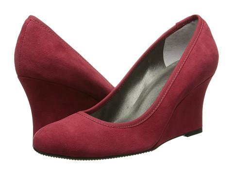 Vaneli - Udara (Red Ecco Suede/Mtch Elastic) Women's Wedge Shoes