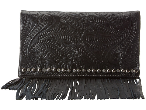 American West - Rockabilly Folded Clutch (Black) Clutch Handbags