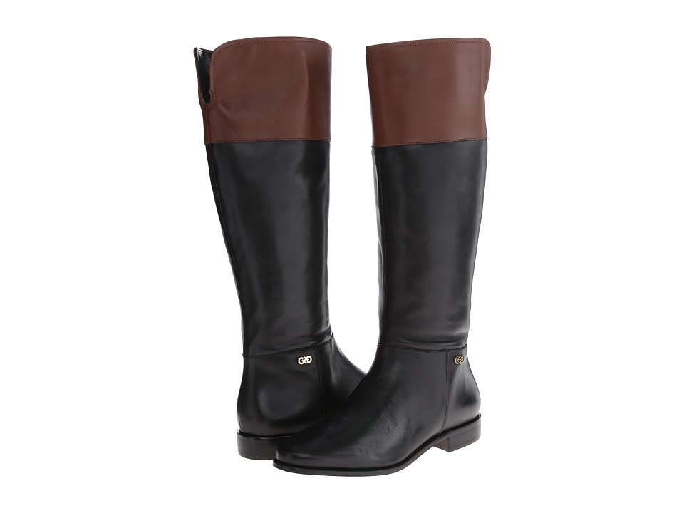 Cole Haan - Primrose Riding Boot (Black/Harvest Brown) Women's Zip Boots