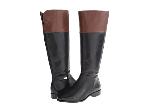 Cole Haan - Primrose Riding Boot Extended Calf (Black/Harvest Brown) Women