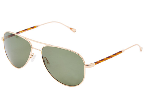 Oliver Peoples West - Piedra (Gold/Sage Polarized) Fashion Sunglasses