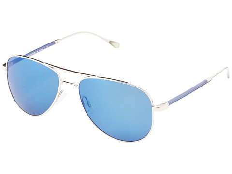 Oliver Peoples West - Piedra (Silver/Maliblu Mirror Polarized) Fashion Sunglasses