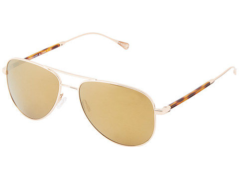 Oliver Peoples West - Piedra (Gold/California Gold Mirror Polarized) Fashion Sunglasses