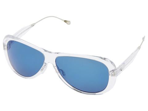 Oliver Peoples West - Manzanita (Crystal/Maliblu Mirror Polarized) Fashion Sunglasses