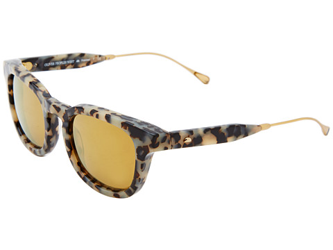 Oliver Peoples West - Cabrillo (Grey Spotted Tortoise/California Gold Mirror Polarized) Fashion Sunglasses