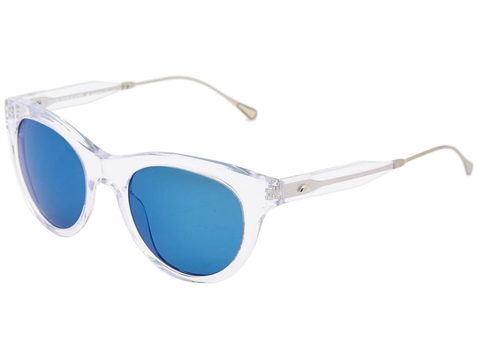 Oliver Peoples West - Latigo (Crystal/Maliblu Mirror Polarized) Fashion Sunglasses