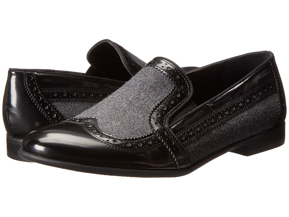 Franco Sarto - Tibby (Black/Grey) Women's Dress Flat Shoes