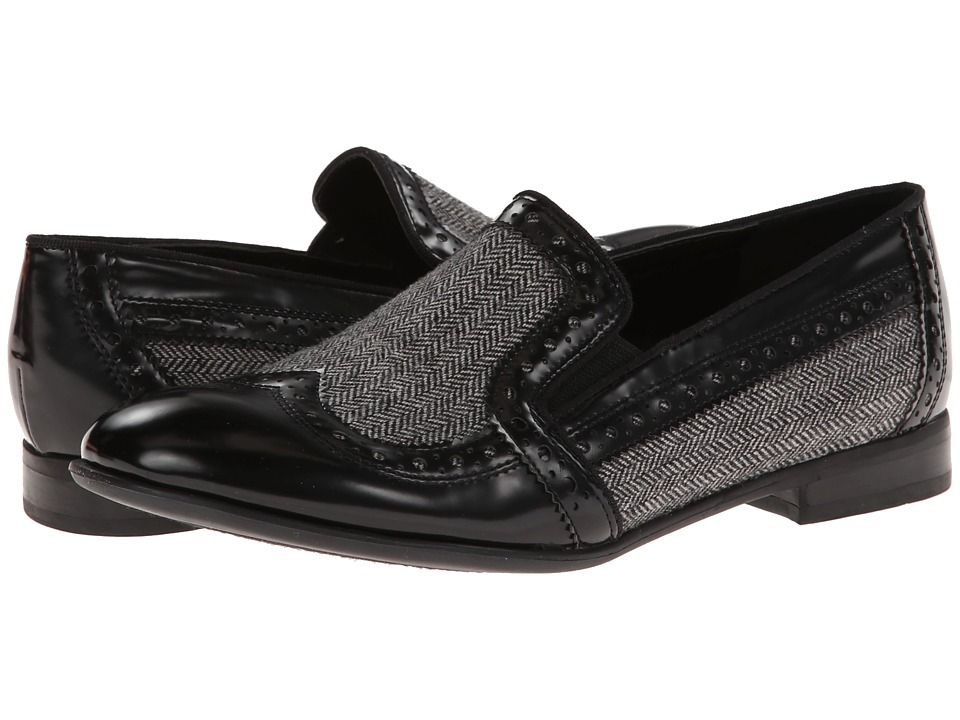 Franco Sarto - Tibby (Black/Herringbone) Women's Dress Flat Shoes