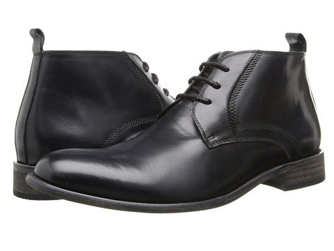 Steve Madden - Boro (Black Leather) Men