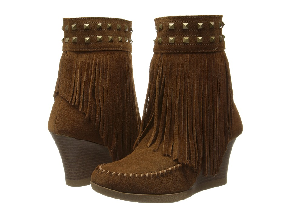 Minnetonka Mid Calf Inside Zip Studs (Dusty Brown) Women