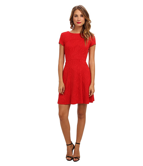 Christin Michaels - Monicah Fit and Flare Dress (Red) Women's Dress