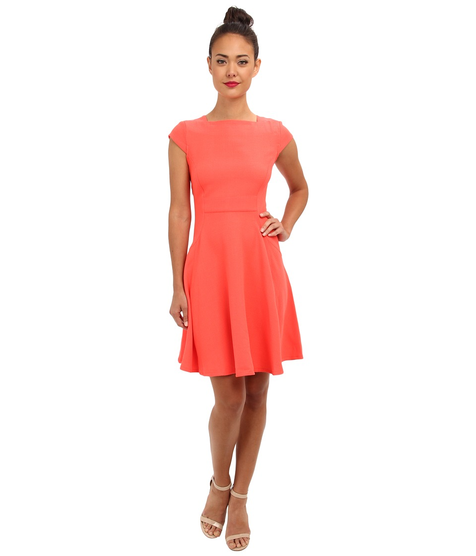 Christin Michaels - Leana Dress (Coral) Women