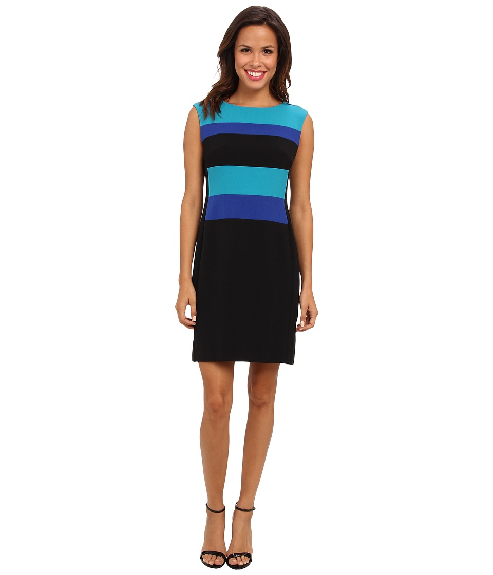 Christin Michaels - Halley Dress (Medium/Saphire/Black) Women's Dress