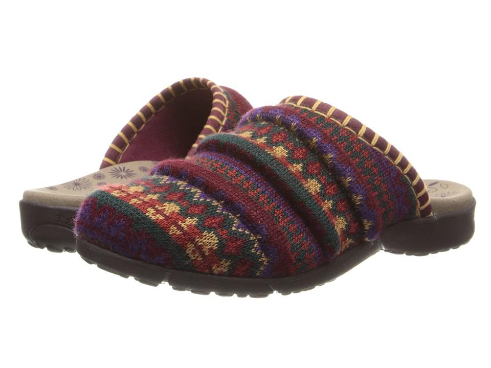 taos Footwear - Knitwit (Berry Multi) Women's Clog Shoes