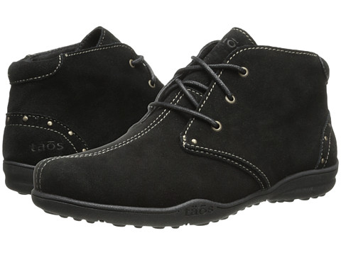 taos Footwear - Stellar (Black Suede) Women's Lace-up Boots