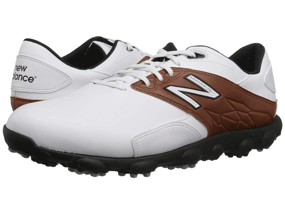 New Balance Golf - Minimus LX (White/Brown) Men's Golf Shoes