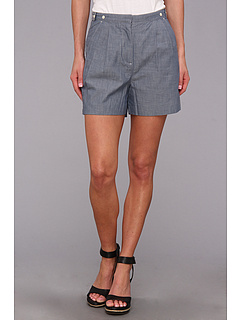 SALE! $54.99 - Save $70 on Fred Perry High Waisted Chambray Short (Kit Blue) Apparel - 56.01% OFF $125.00