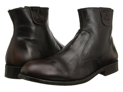 H by Hudson - Haxton (Black Zip Boot) Men's Shoes